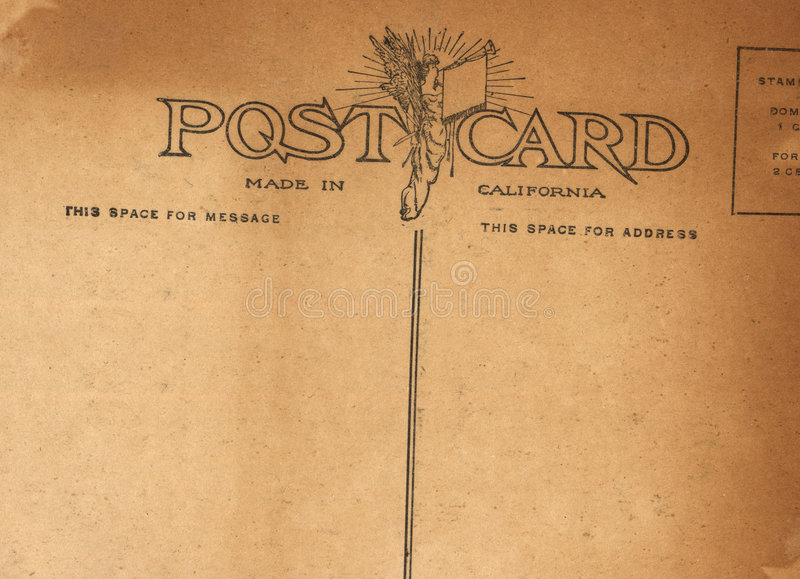 Download Antique Postcard stock photo. Image of california, post - 459456