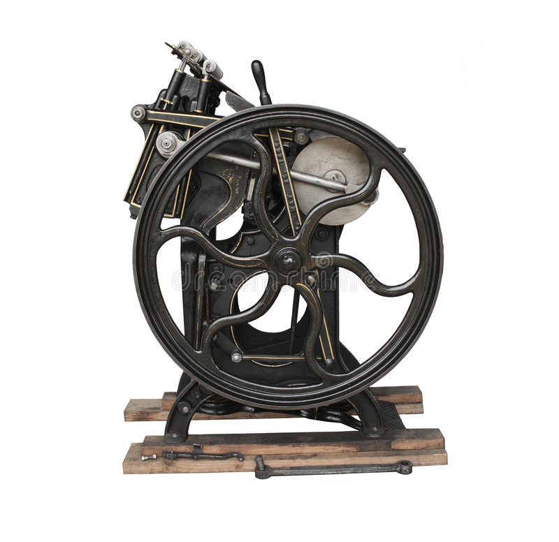 Download Antique  Press With Gold Trim Stock Image - Image: 2151261
