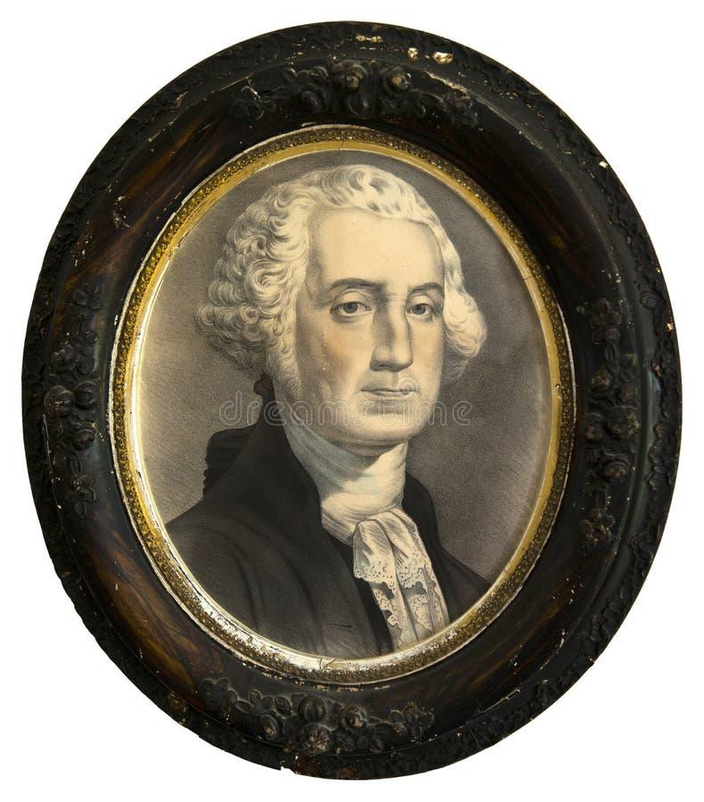 Antique Print, President George Washington Painting Isolated royalty free stock photos