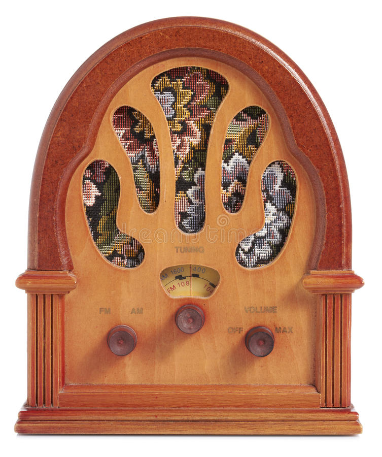 Download Antique Radio stock photo. Image of wood, antique, speaker - 25811960