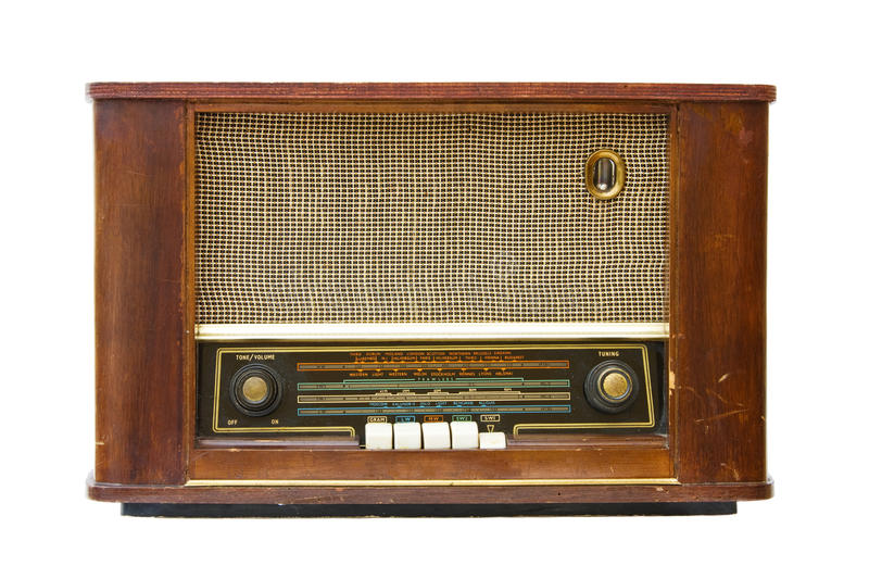 Download Antique radio transistor stock image. Image of music - 26580649