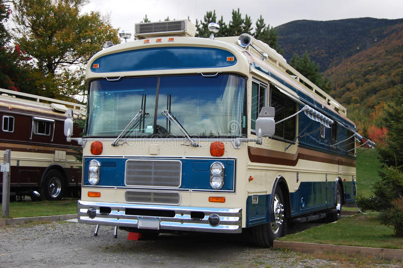 Download Antique Recreational Bus, New Hampshire, USA Stock Image - Image of travel, park: 19589335