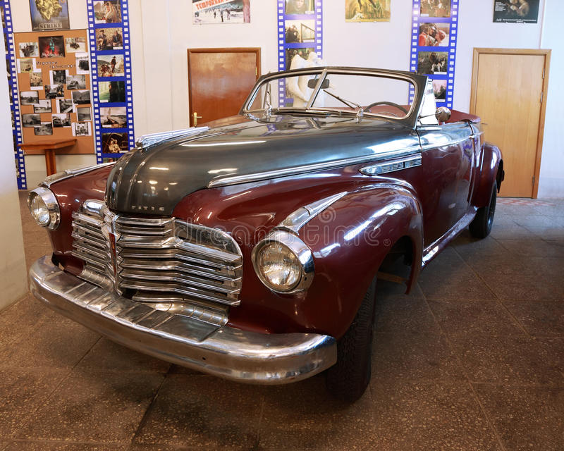 Antique Red Car In Museum Of Mosfilm Editorial Photo
