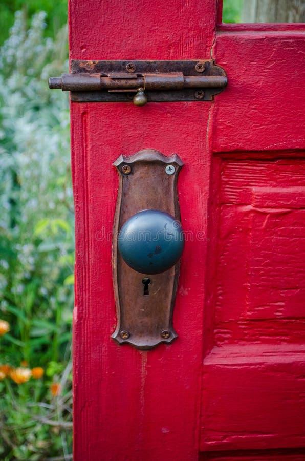 What`s behind the red door? stock photo
