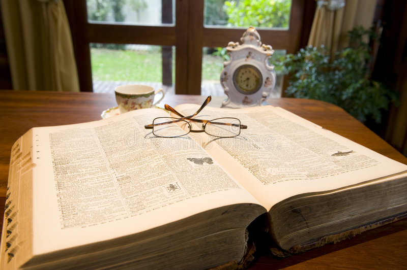 Antique Reference Book Stock Images