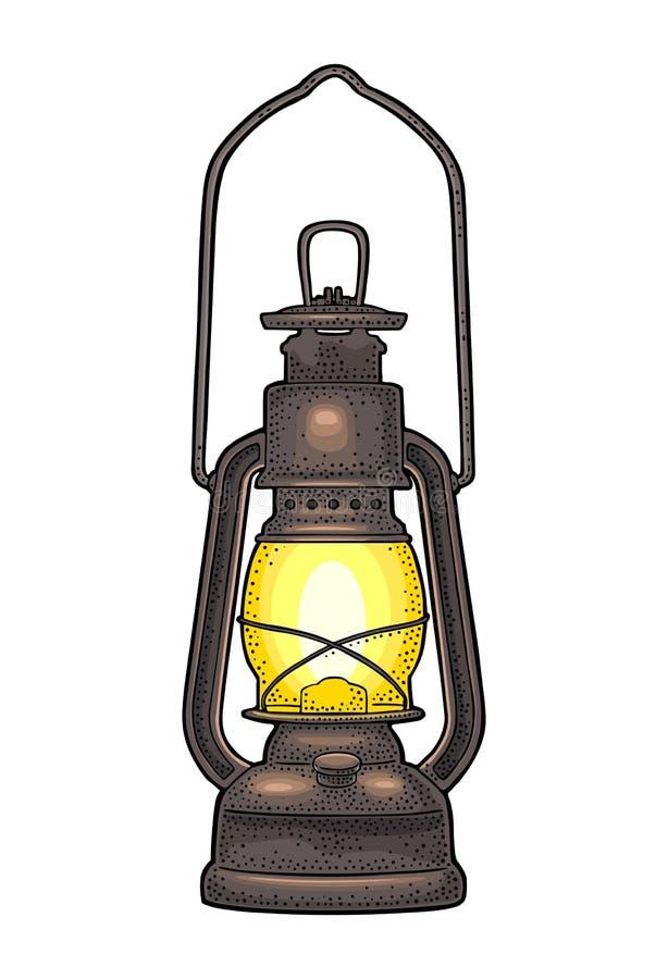Free Antique Retro Gas Lamp. Vintage Black Engraving Illustration Stock Photos - 110386683