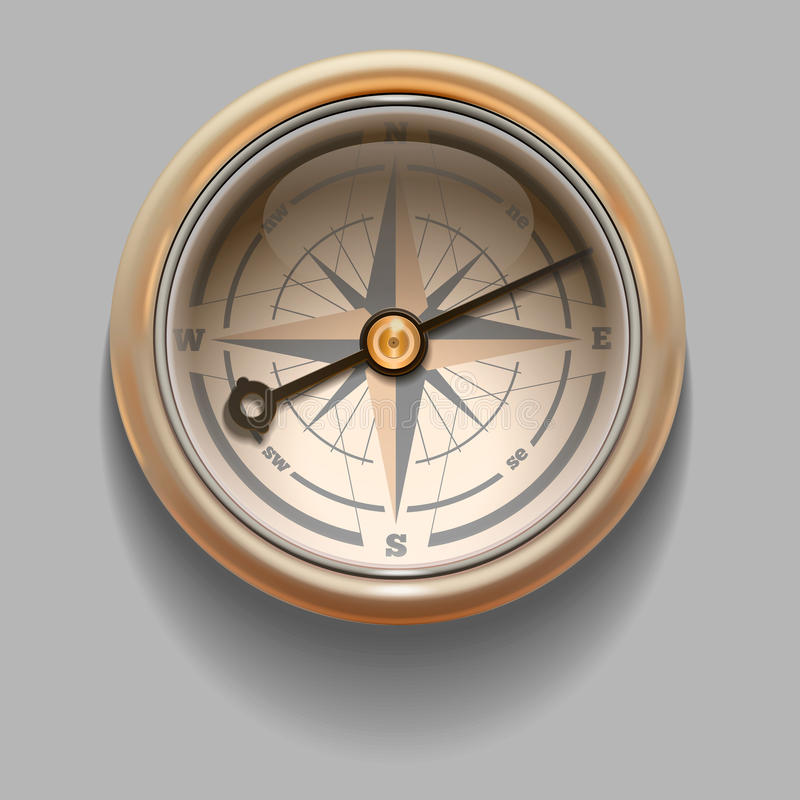 Antique retro style compass with windrose. Vector Illustration vector illustration