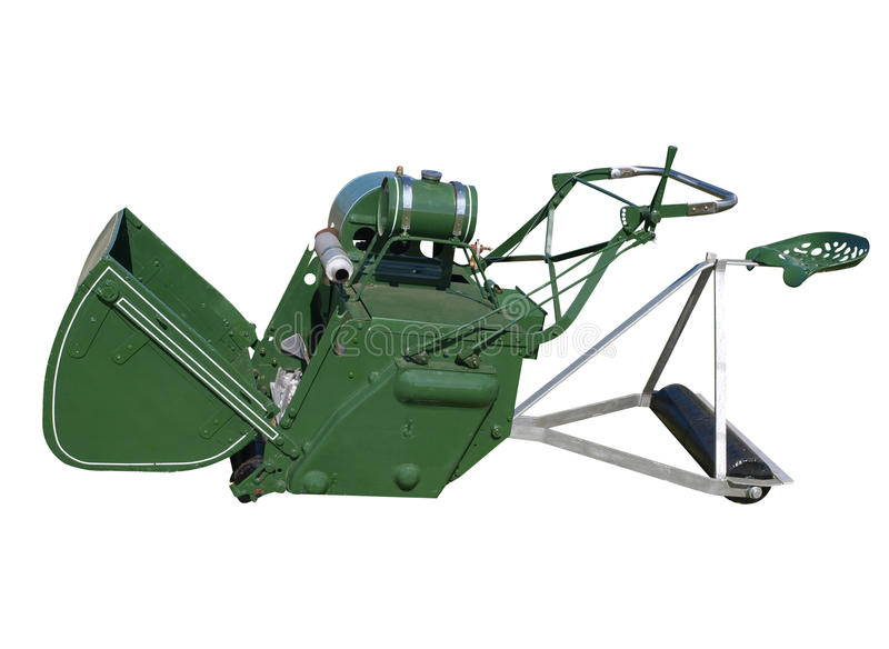 Download Antique Ride-on Lawnmower stock photo. Image of restored - 18813968