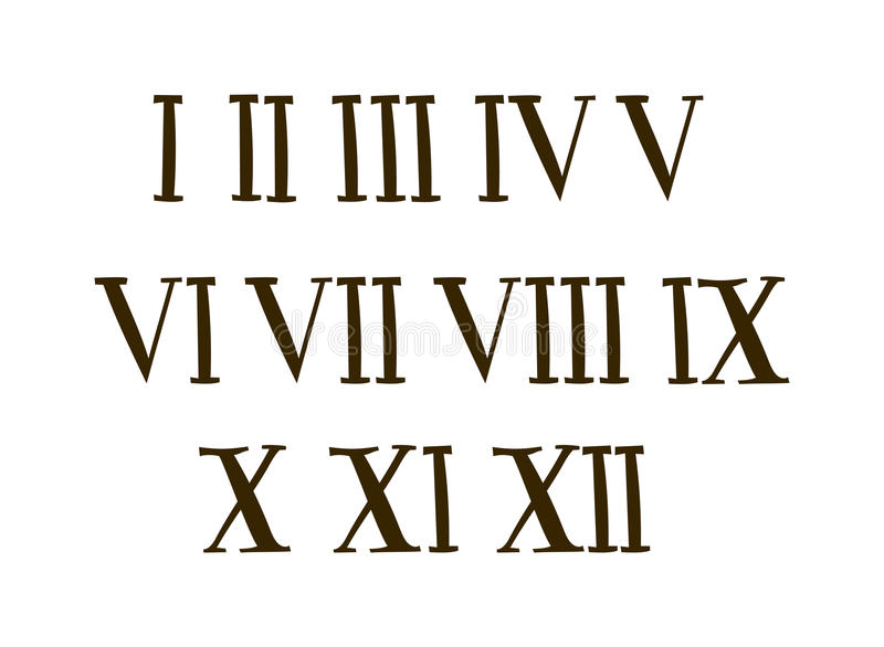 Antique roman alphabet numbers set vector illustration for Classic house number fonts