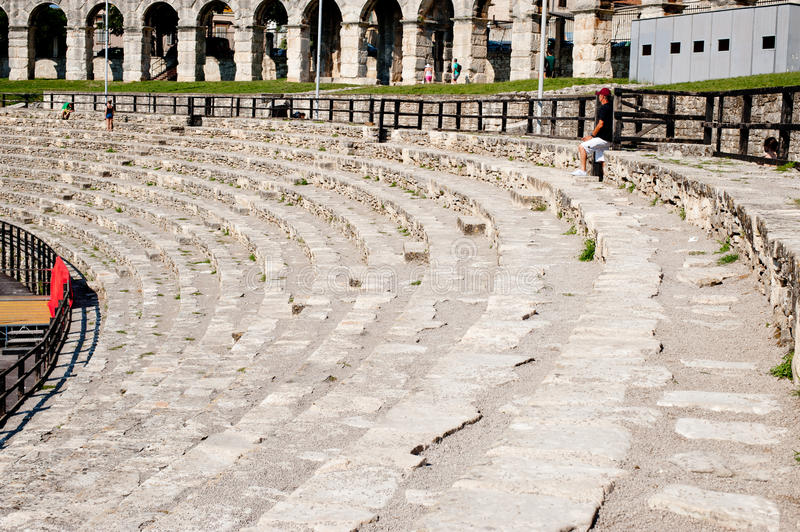Antique Roman forum in Pula royalty free stock images