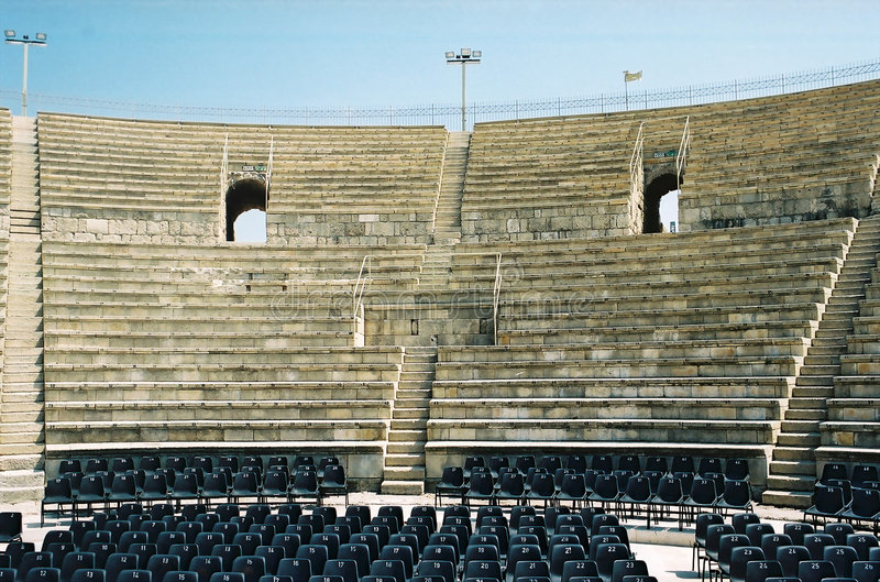 Antique Roman theatre royalty free stock photos