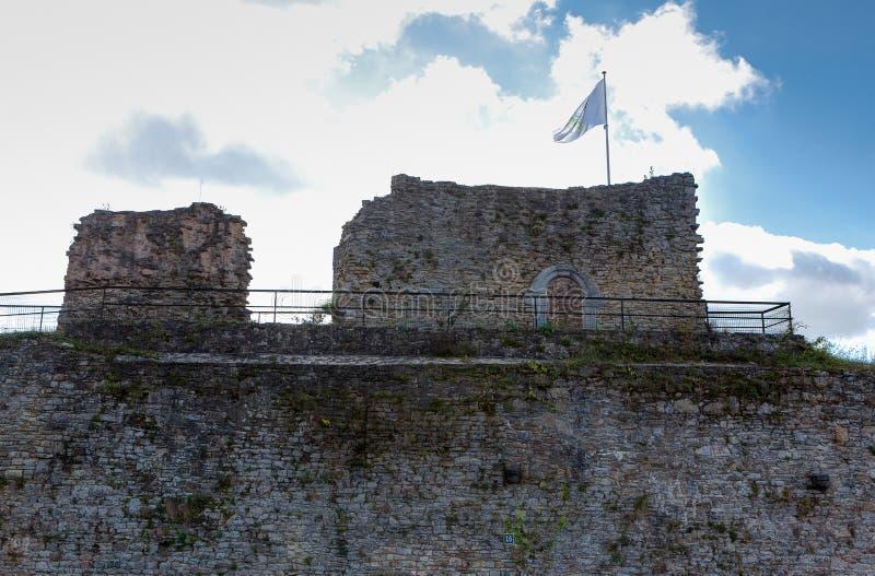 Ruins medieval castle Franchimont, Theux, Liege, Belgium stock photo