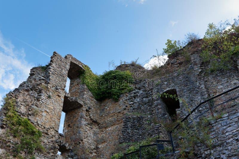 Ruins medieval castle Franchimont, Theux, Liege, Belgium royalty free stock images