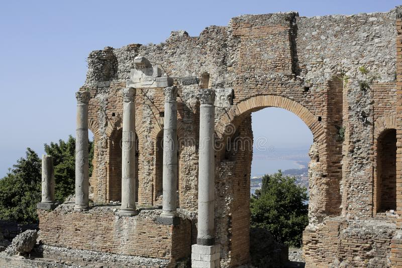 Antique ruins and columns royalty free stock photography