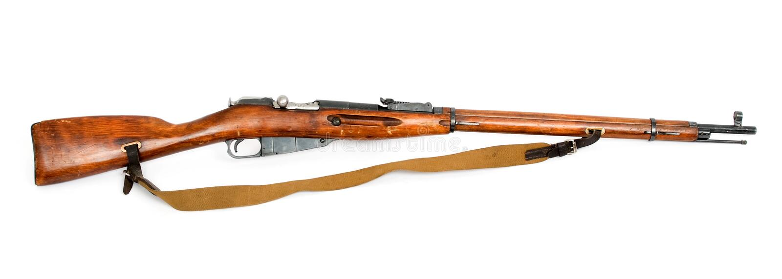 Antique russian mosin's rifle royalty free stock image