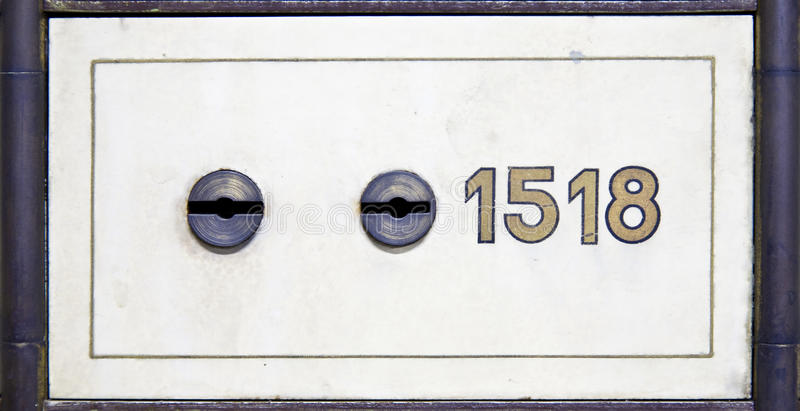 Antique safe deposit box royalty free stock photography