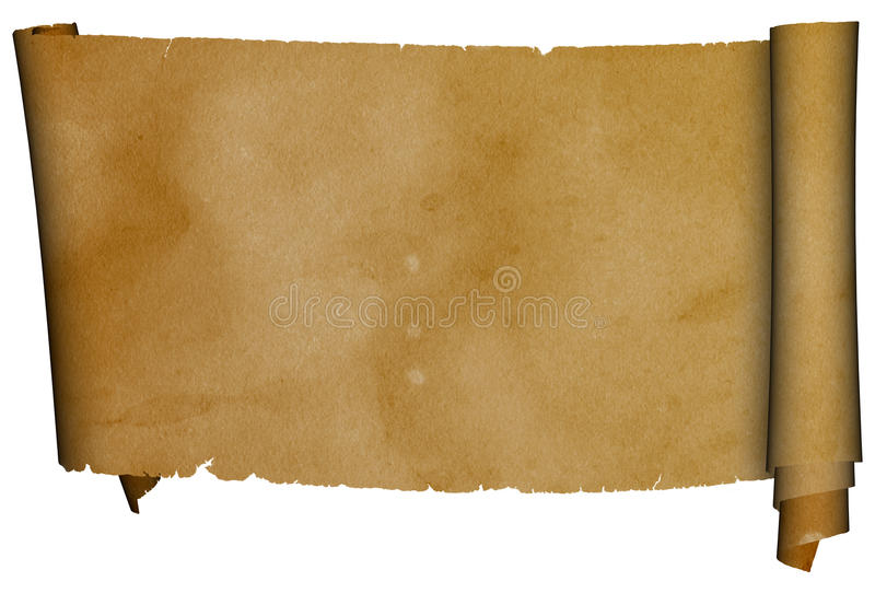 Antique scroll. royalty free stock photography