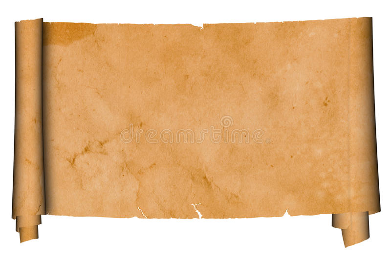 Antique scroll. royalty free stock photos