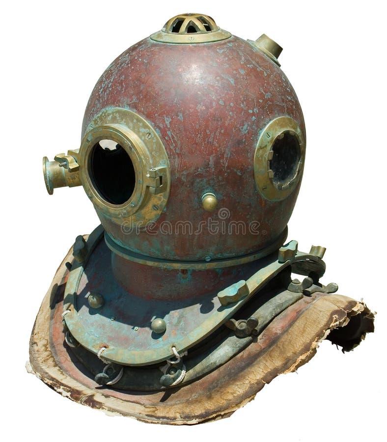 Antique Scuba Helmet Royalty Free Stock Photo