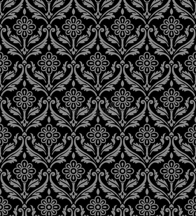 Antique seamless background 521 vintage curve spiral cross leaf flower vine. Antique background image patterns can be used for wallpaper, web page background vector illustration