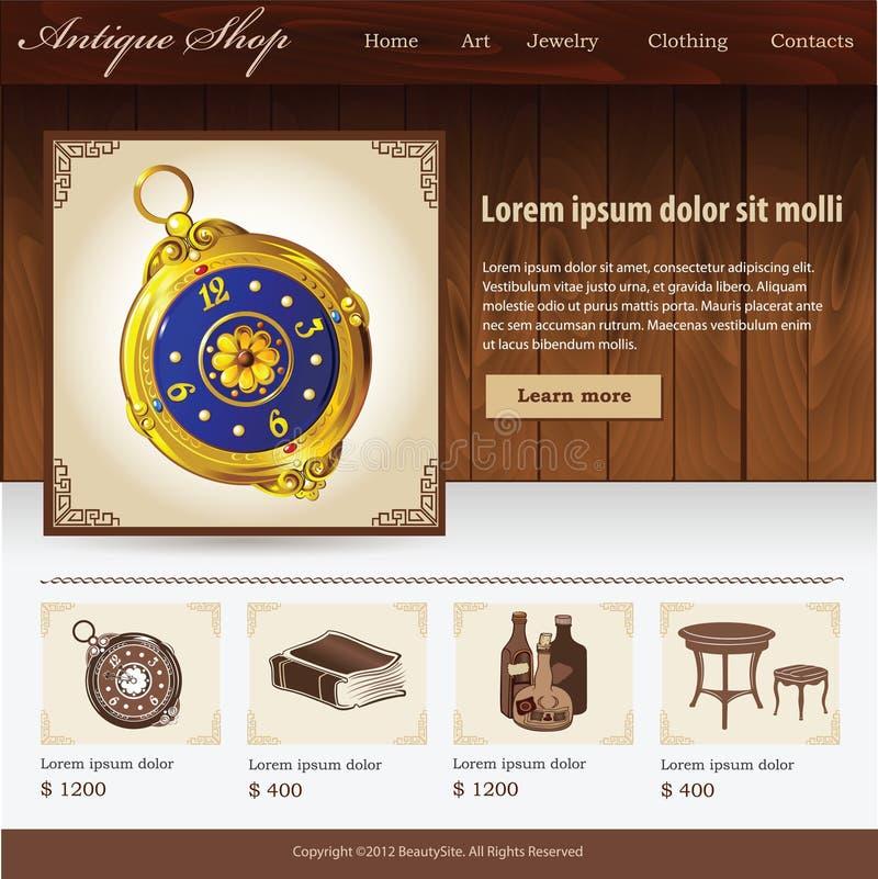 Antique shop website royalty free illustration