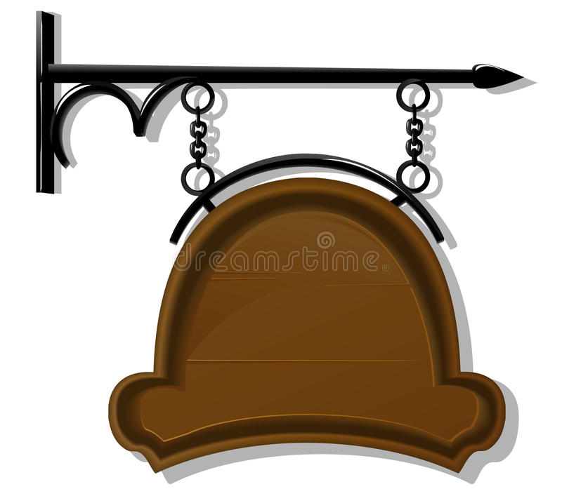 Download Antique signboard stock vector. Image of frame, plaque - 22986993