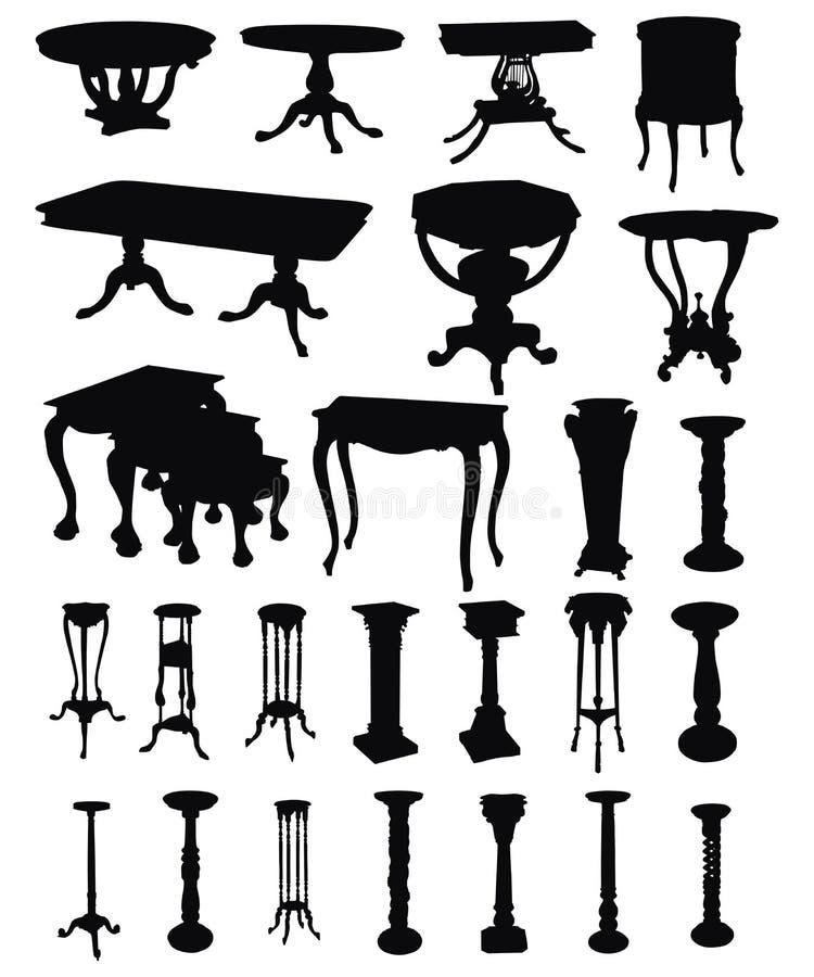 antique silhouettes таблицы бесплатная иллюстрация