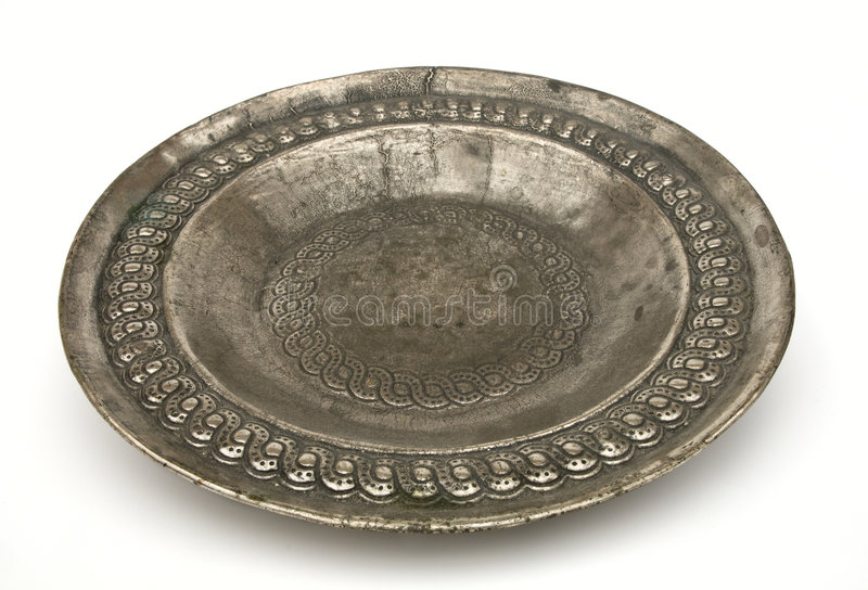 Download Antique silver plate stock image. Image of white, backgrounds - 6440591