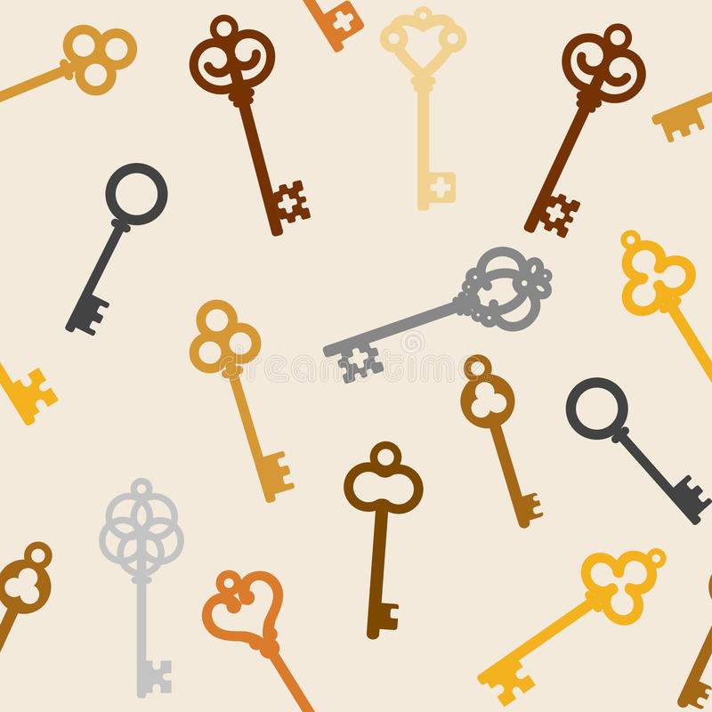 Antique skeleton keys royalty free illustration