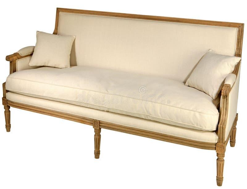 Antique sofa isolated
