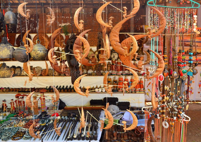 Antique souvenir for sale in Mandalay. Bagan, Myanmar - March 11 2015: Antique souvenir for sale in Mandalay royalty free stock photography