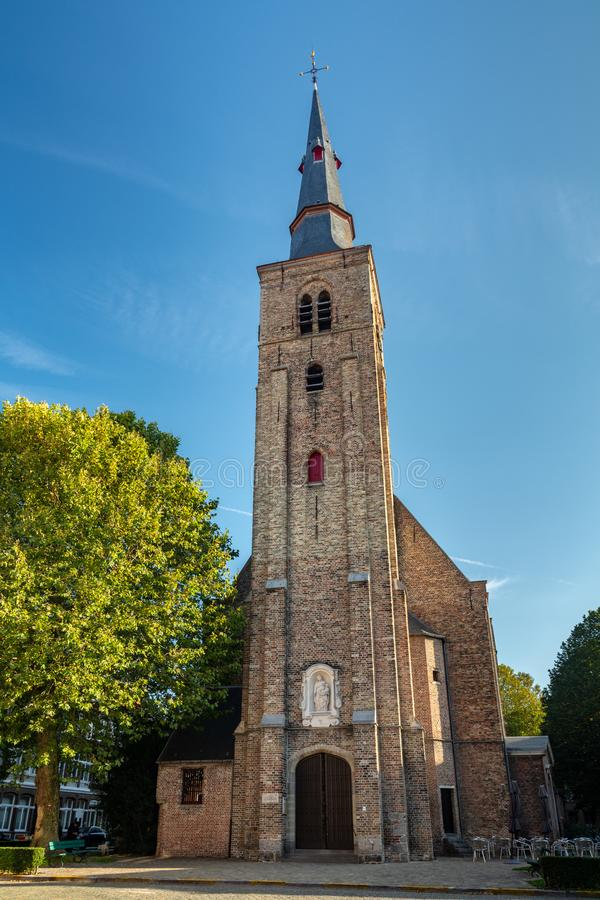 St Anne`s Church in Bruges. The antique St Anne`s Church in the historical town of Bruges royalty free stock images