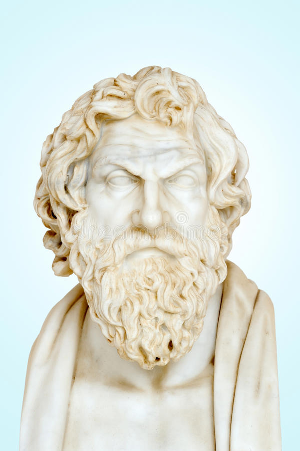 Download Statue of Antisthenes stock photo. Image of theoretical - 30059268