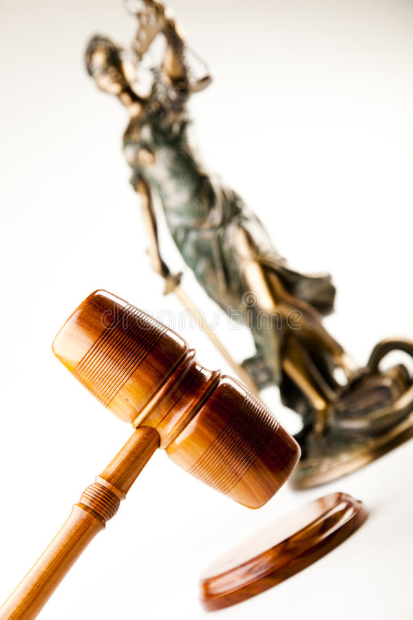 Antique Statue Of Justice Royalty Free Stock Photography