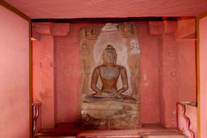 Antique stones idols of Jain God & Goddess stock photography
