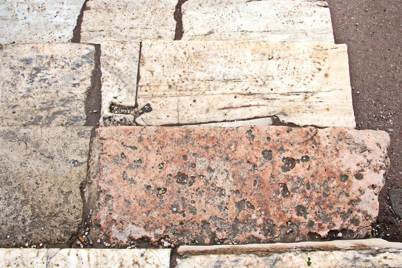 ANTIQUE STONES AND MARBLE USED AT CONSTRUCTION, ACROPOLIS RUINS, GREECE. ANTIQUE STONES,BRICKS AND MARBLE USED FOR BUILDINGS,CONSTRUCTIONS AT ACROPOLIS RUINS royalty free stock photos