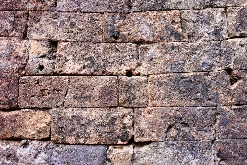 Antique stonework. Stone wall as background. Solid surface.  stock photo