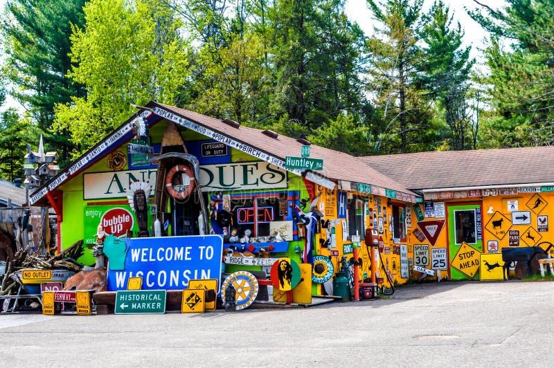 Antique Store em Eagle River, Wisconsin imagem de stock