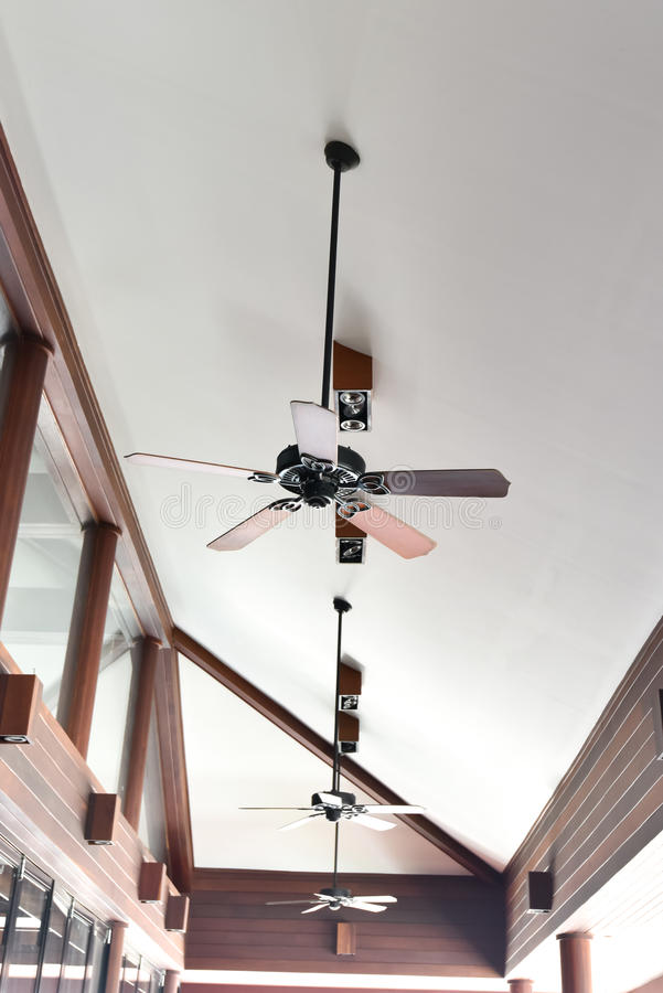 Antique style ceiling fan. In contemporary building stock images