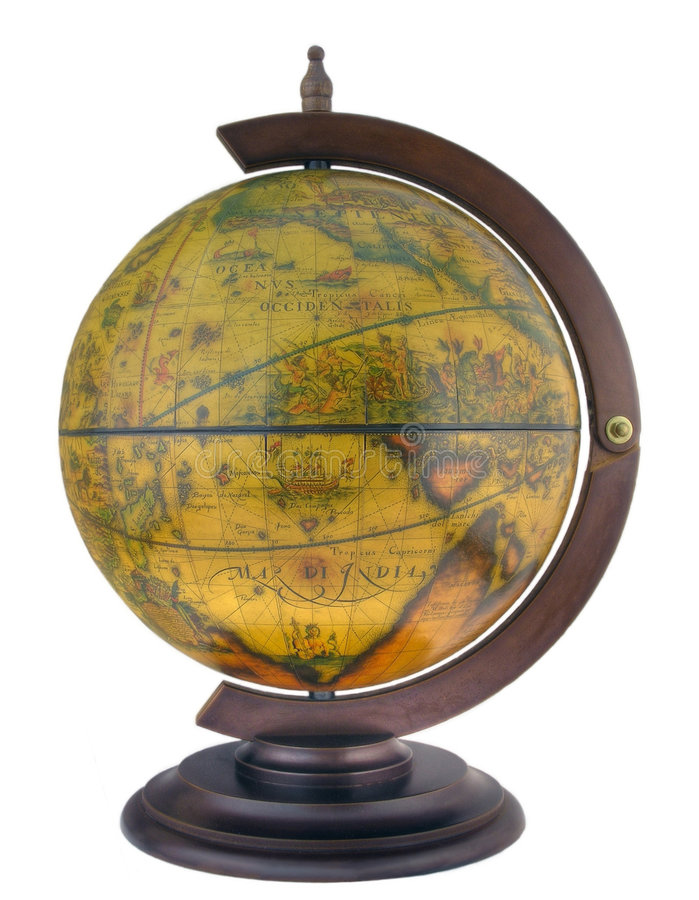 Download Antique style globus stock image. Image of county, exploring - 3624573