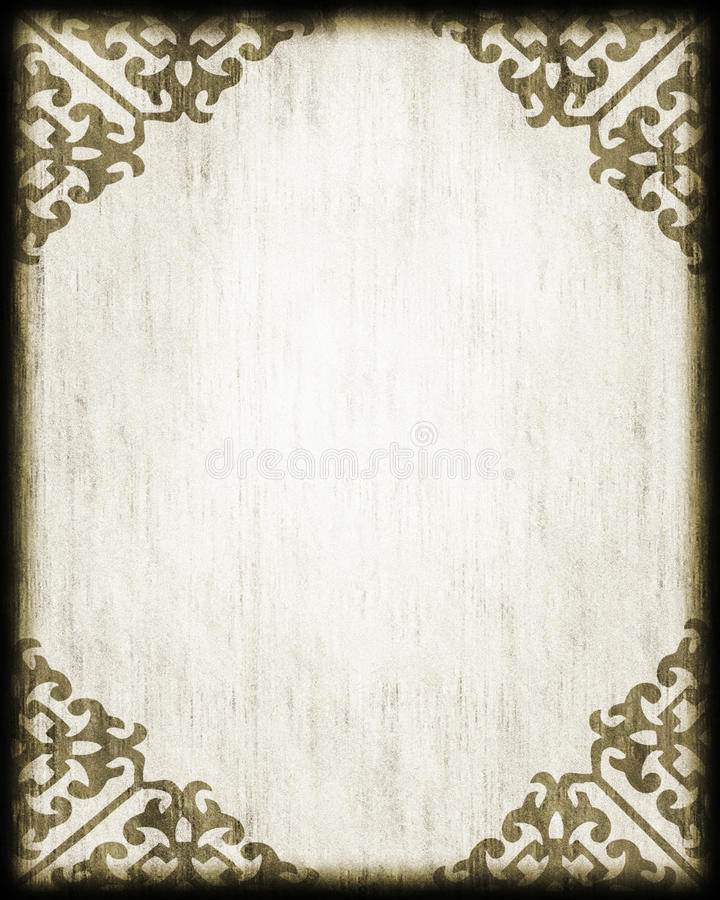 Antique Style Paper/ Lace Corners stock illustration