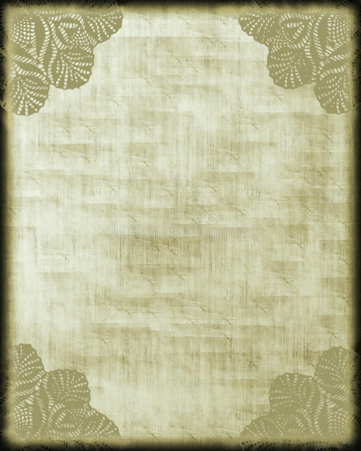 Antique Style Paper/ Lace Corners stock photo