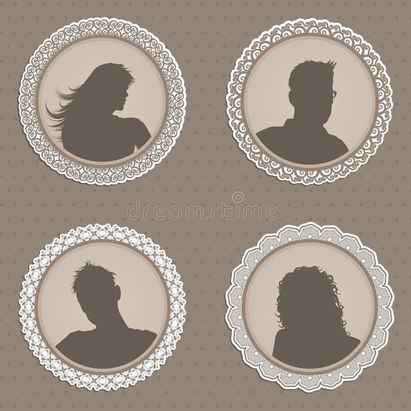 Antique Style People Avatars Royalty Free Stock Image