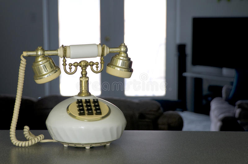 Antique style phone stock photo