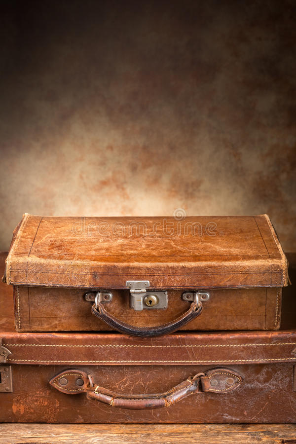 Antique Suitcases Royalty Free Stock Images