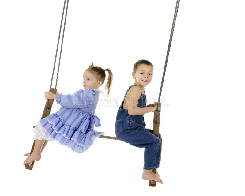 Download Antique Swinging stock image. Image of sister, background - 28464255