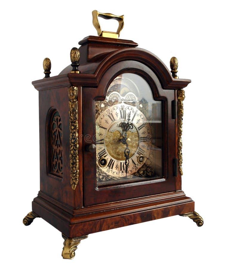 Antique table clock royalty free stock photos