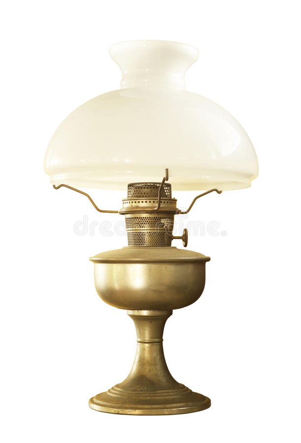 Antique Table Lamp Stock Photo