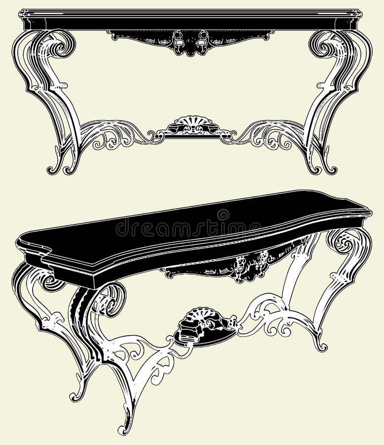 Download Antique Table Vector 01 stock vector. Illustration of antique - 14534232
