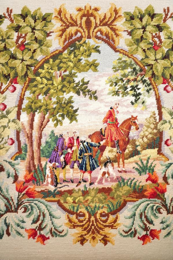 Antique tapestry royalty free stock images